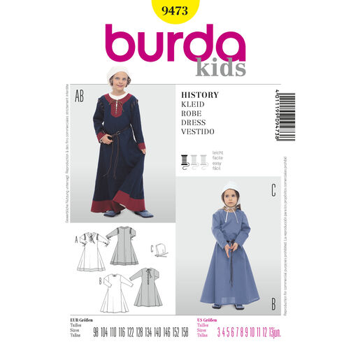 Burda Style Pattern 9473 Historic Gowns