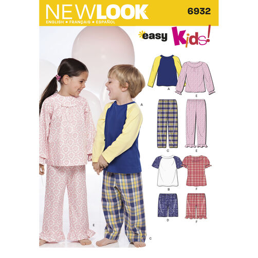 New Look Pattern 6932 Child Sleepwear