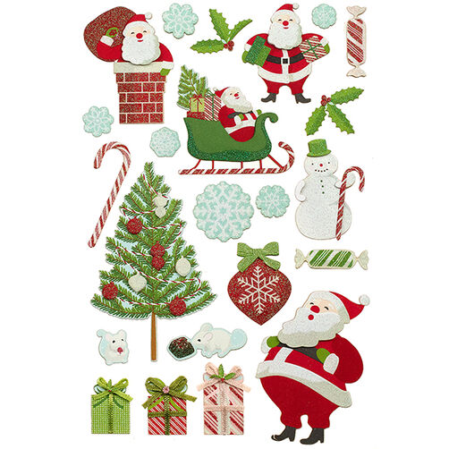 Peppermint Winter Santa Stickers_48-30238