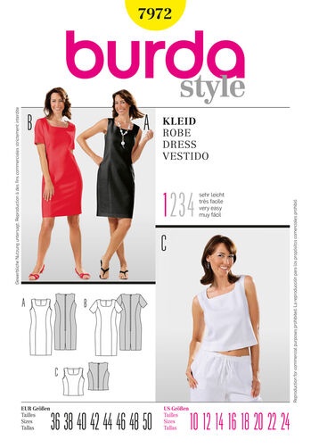 Burda Style Pattern 7972 Dress