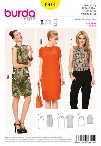Burda Style Pattern 6914 Dresses