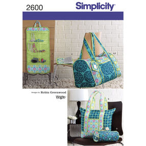 Simplicity Pattern 2600 Quilted Travel Accessories