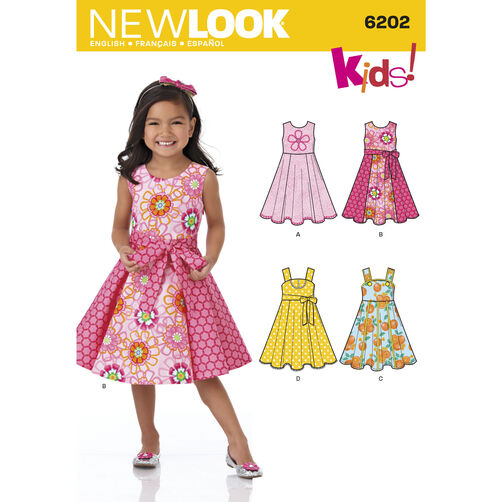 New Look Pattern 6202 Child's Dress and Sash