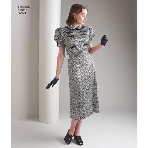 simplicity pattern 8248 misses 39 vintage 1930s dresses. Black Bedroom Furniture Sets. Home Design Ideas