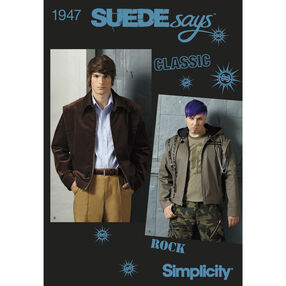 Simplicity Pattern 1947 Men's Jackets SUEDEsays Collection