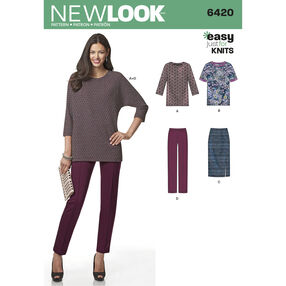 Misses' Knit Skirt, Pants and Top