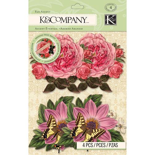 K&Company Beyond Postmarks Botanical Floral Fan Accent_30-658028