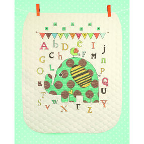 Baby Elephant ABC Quilt in Stamped Cross Stitch_70-74130
