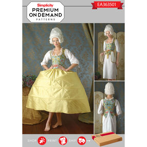 Simplicity Pattern EA363501 Premium Print on Demand Costume Pattern