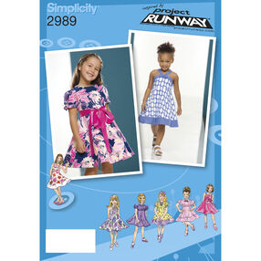 Simplicity Pattern 2989 Toddler and Child Dresses