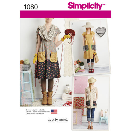 Simplicity Pattern 1080 Misses' Dress or Tunic
