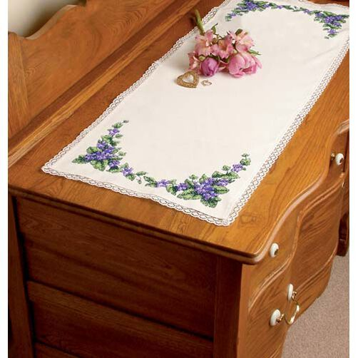 Pretty Violets Dresser Scarf_72860