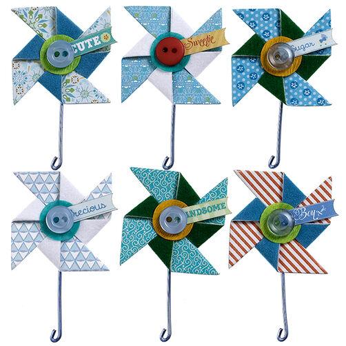 Baby Boy Pinwheels Repeat Stickers_50-21611
