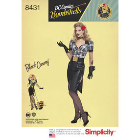 Pattern 8431 Misses' DC Comics Bombshell Black Canary Costume