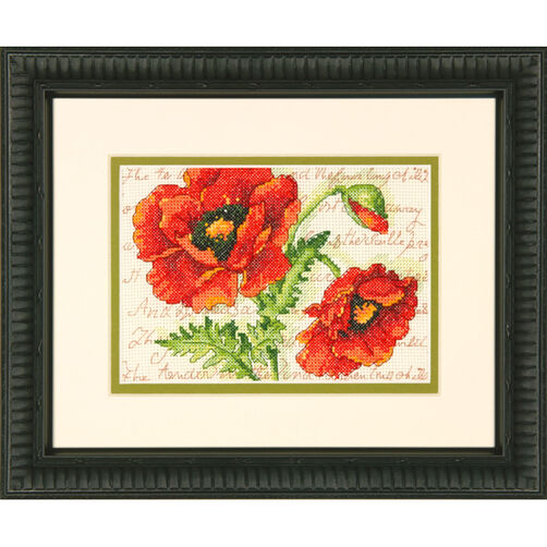 Poppy Pair, Counted Cross Stitch_70-65116