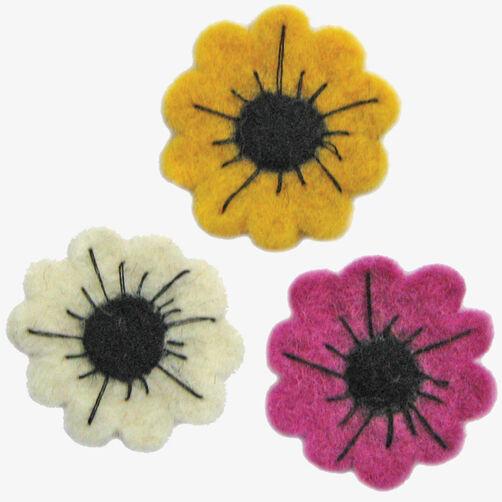 Wool Felt Dahlia Trio_72-73945