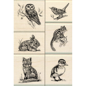 Wildlife Friends Wood Stamp Set_60-10143