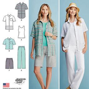 Misses' and Women's Sportswear Pattern