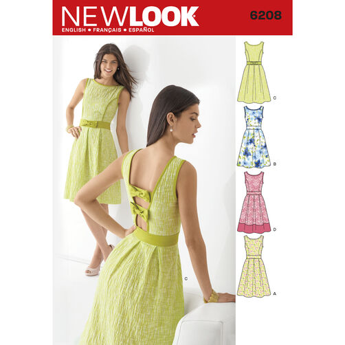 New Look Pattern 6208 Misses' Dress
