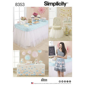 Simplicity Pattern 8353 Party Décor and Accessories