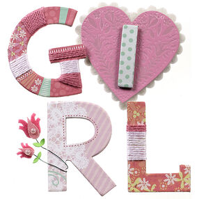 Baby Girl Yarn Word Stickers_50-21610