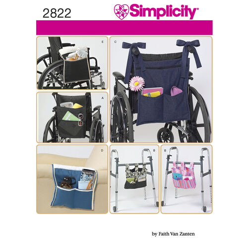 Simplicity Pattern 2822 Crafts: Chair & Walker Accessories