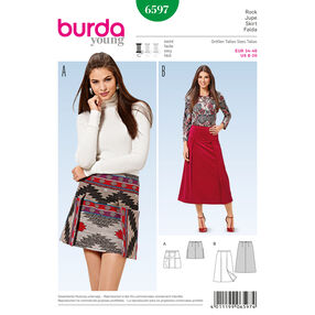 Burda Style Pattern 6597 Skirt