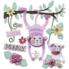 Baby Girl My Little Monkey Stickers_50-21614