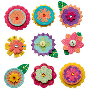 Layered Mini Flowers Stickers_50-21307