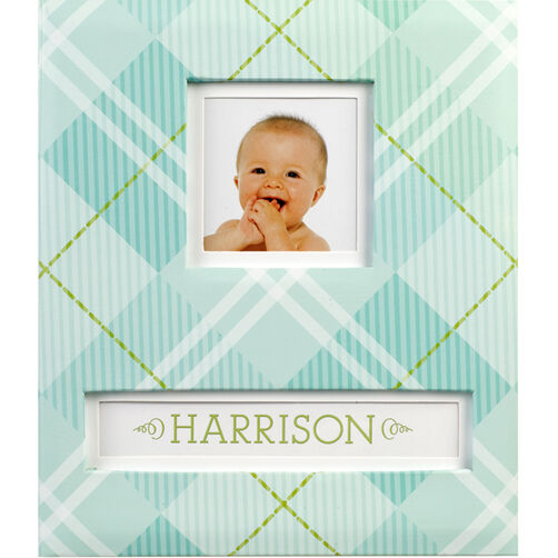 Blue Plaid Frame-a-Name Scrapbook_30-678118