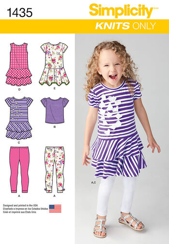 Child's Knit Dresses, Top and Capri Leggings