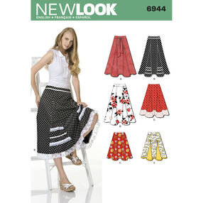 New Look Pattern 6944 Misses Skirts