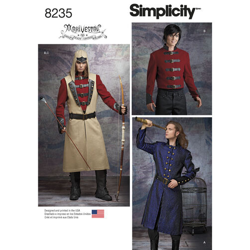 Simplicity Pattern 8235 Men's Cosplay Costume Pattern