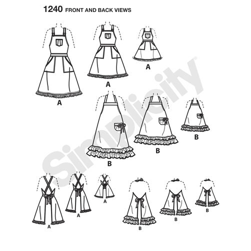 Pattern for Aprons for Misses, Children and 18