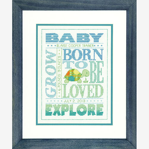 About Boys Birth Record in Counted Cross Stitch_70-73990