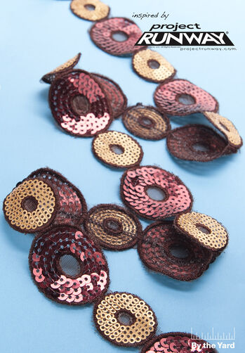 "1-3/4"" Two Tone Sequin Circle Trim"