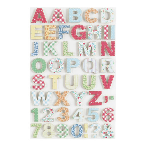 Stitched Fabric Dimensional Alphabet Stickers_41-00319