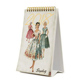 Simplicity Vintage 2018 Desk Calendar