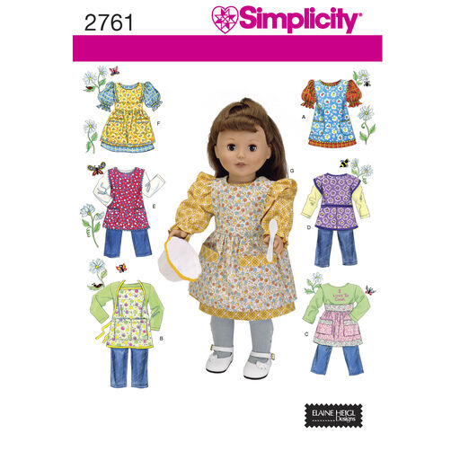 "Simplicity Pattern 2761 18"" Doll Clothes"