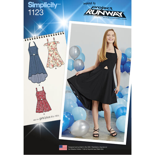 Simplicity Pattern 1123 Girls' and Girls' Plus Dresses and Romper