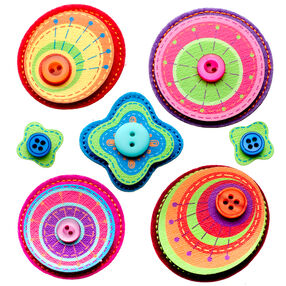 Layered Stitched Shapes Stickers_50-21296