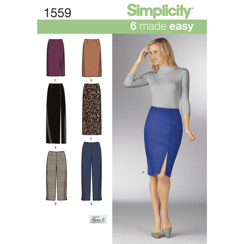 Simplicity Pattern 1559 Misses' Skirts and Pants