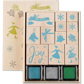 Frosty Elegance Wood Stamp Set_40-20008