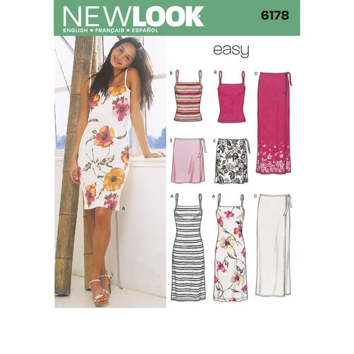 New Look Pattern 6178 Misses Separates