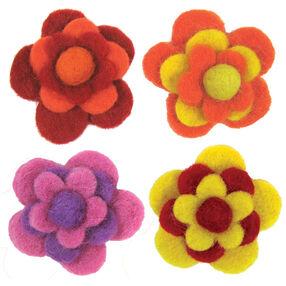 Layered Warm Wool Felt Flowers_72-73827