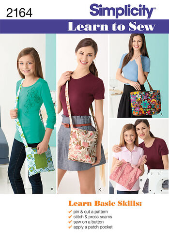 Simplicity Pattern 2164 Learn to Sew Bags