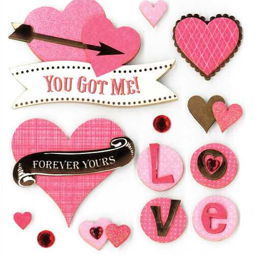 Forever Yours Dimensional Sticker  _30-578142