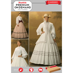 Simplicity Pattern EA490001 Premium Print On Demand Costume Pattern