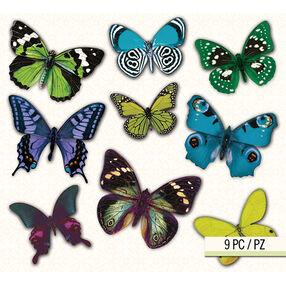 Lily Ashbury Indigo Garden Butterfly Vellum Stickers_30-681156
