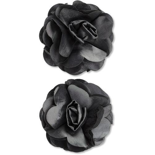 Grey Taffeta Flower Embellishments_50-60344